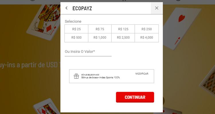 ecoPayz depósito 3