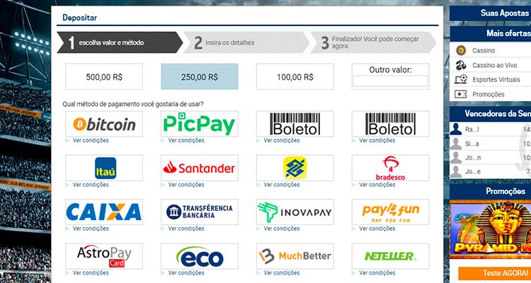 depósito Pay4fun 2