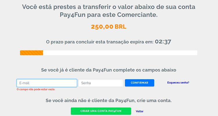 depósito Pay4fun 3